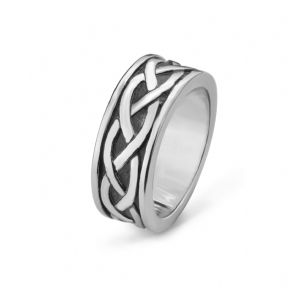 Celtic Knotwork Stainless Steel Ring 9369